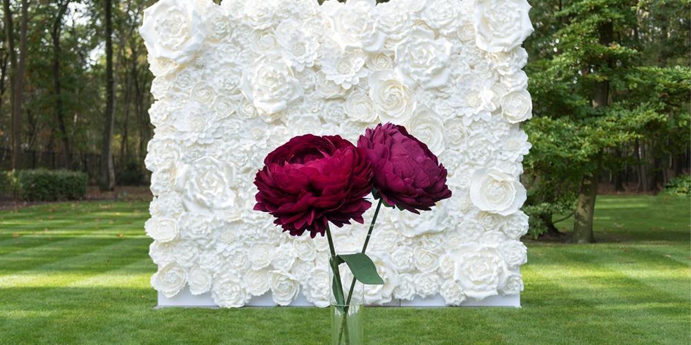XL bloemenwand & XL bloemen