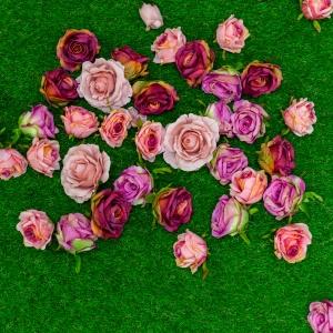 kunstgras bloemenwand